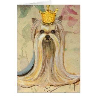 Yorkshire Terrier Princess n Roses Greeting Card