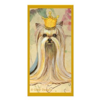 Yorkshire Terrier Princess n Roses Photo Greeting Card
