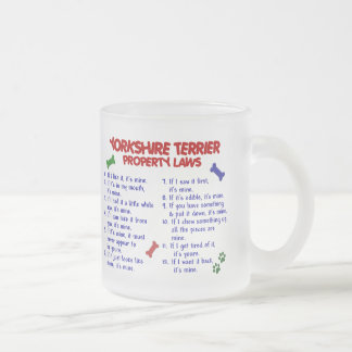 YORKSHIRE TERRIER Property Laws 2 Yorkie Frosted Glass Coffee Mug