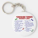 YORKSHIRE TERRIER Property Laws 2 Yorkie Keychain