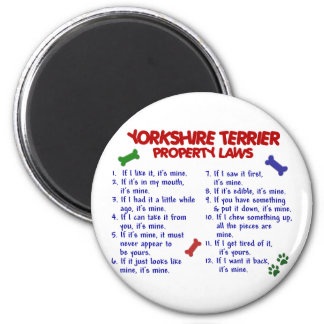 YORKSHIRE TERRIER Property Laws 2 Yorkie Magnets