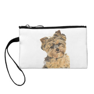 Yorkshire Terrier Pup Painting Coin Purse