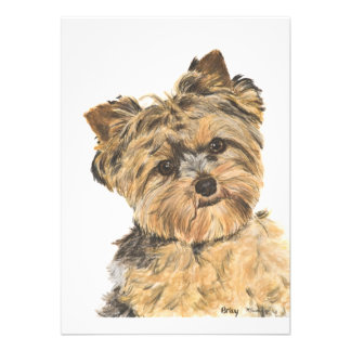 Yorkshire Terrier Pup Painting Invites