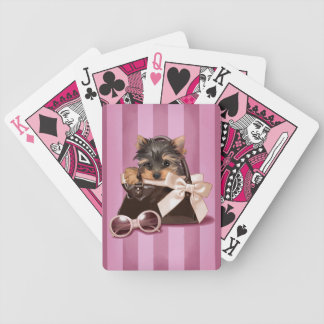 Yorkshire Terrier Puppy Bicycle Playing Cards