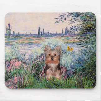 Yorkshire Terrier Puppy - By The Seine Mouse Pad