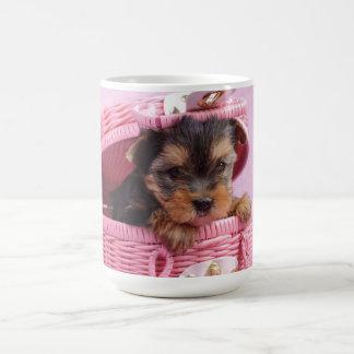 Yorkshire terrier puppy coffee mug