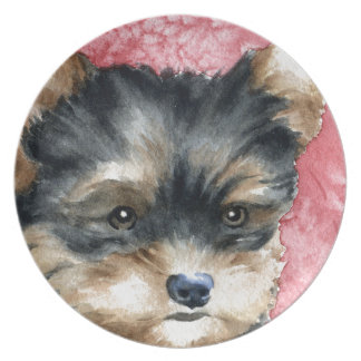 Yorkshire Terrier Puppy Dinner Plate