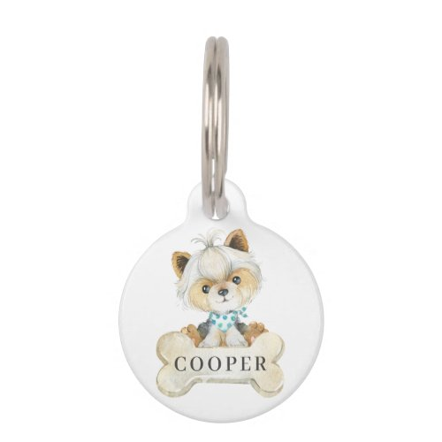 Yorkshire Terrier Puppy Dog Pet ID Tag