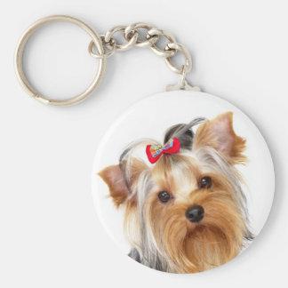 Yorkshire Terrier Puppy Dog Portrait Keychain