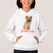 Yorkshire Terrier Puppy Dog Red Yorkies Rule Girls Hoodie