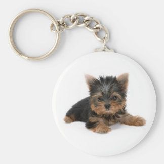 Yorkshire Terrier Puppy Keychain