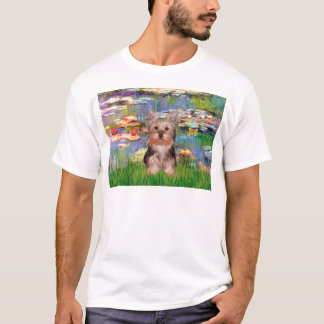 Yorkshire Terrier Puppy - Lilies 2 T-Shirt
