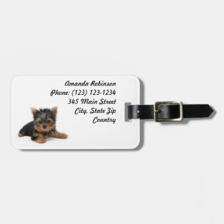 Yorkshire Terrier Puppy Luggage Tag