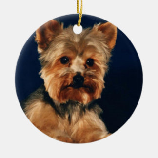 Yorkshire Terrier Puppy Christmas Tree Ornament