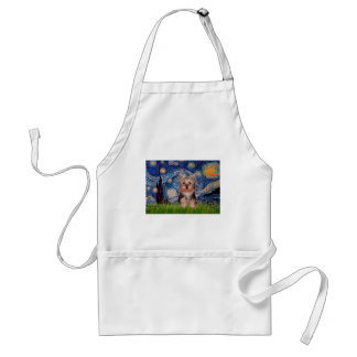 Yorkshire Terrier Puppy - Starry Night Apron
