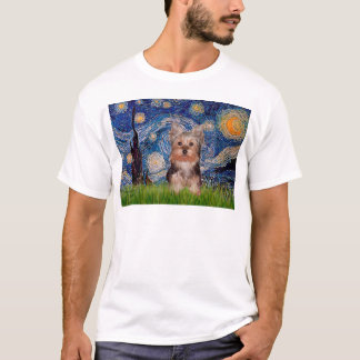 Yorkshire Terrier Puppy - Starry Night T-Shirt