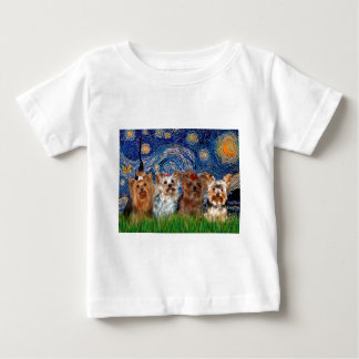 Yorkshire Terrier Quad - Starry Night Baby T-Shirt