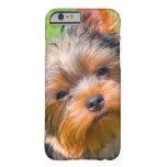 Yorkshire Terrier que mira para arriba Funda De iPhone 6 Barely There