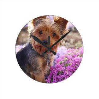 Yorkshire Terrier Round Clock