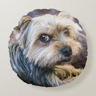 Yorkshire Terrier Round Pillow