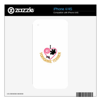 Yorkshire Terrier Skin For iPhone 4