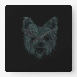 Yorkshire Terrier Square Wall Clock