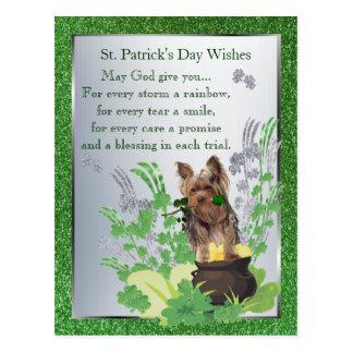 Yorkshire Terrier St Pattys Day Spiritual Message Postcard