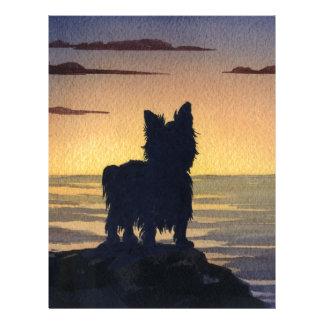 Yorkshire Terrier Sunset Letterhead