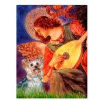 Yorkshire Terrier (t) - ángel de la mandolina Tarjeta Postal