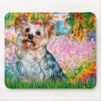 Yorkshire Terrier (T) - Garden Mouse Pad