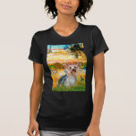 Yorkshire Terrier (t) - jardín (VG) Camiseta