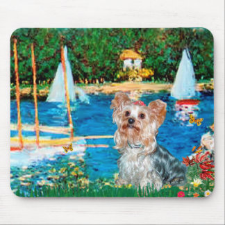 Yorkshire Terrier (T) - Sailboats Mouse Pad