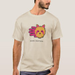 Hand shaped Yorkshire Terrier T-shirt
