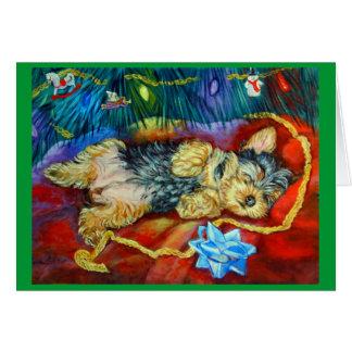 Yorkshire Terrier Tarjeta De Felicitación