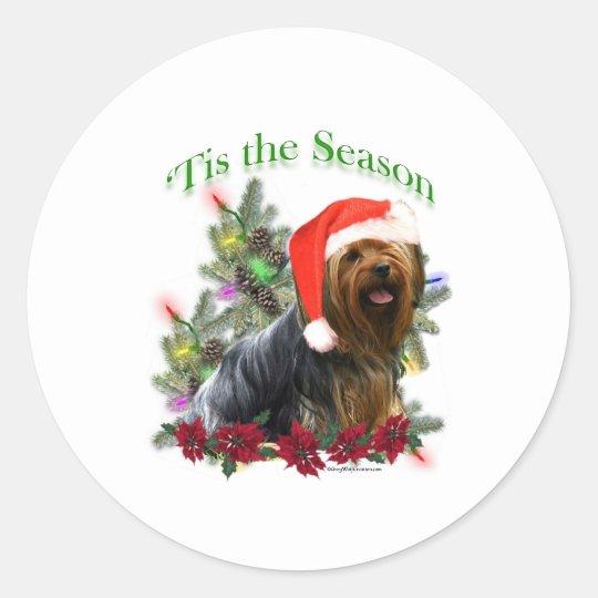 Yorkshire Terrier 'Tis Classic Round Sticker