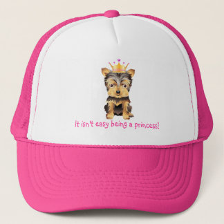 Yorkshire Terrier Toy Princess Dog  Baseball hat