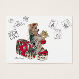 Yorkshire Terrier Traveling Business Card