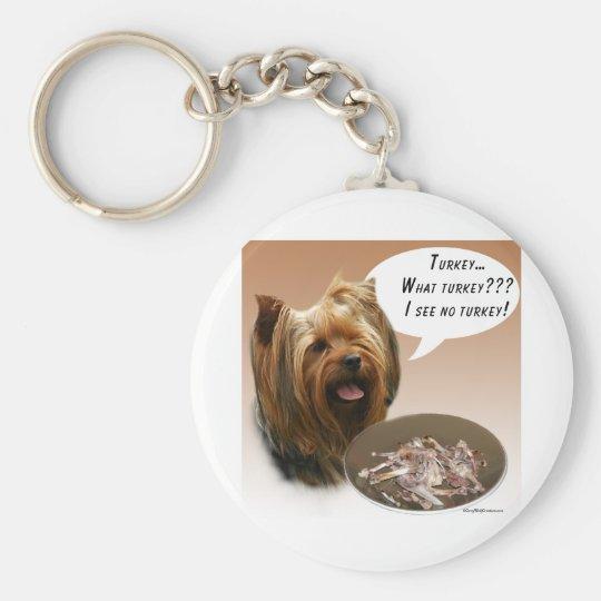 Yorkshire Terrier Turkey Keychain