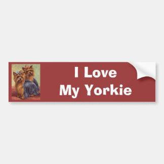 Yorkshire Terrier Vintage Bumper Sticker