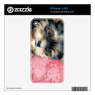 Yorkshire Terrier Vinyl Device Protection Skin iPhone 4 Skin
