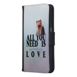 Galaxy S6 Wallet Case with Yorkshire Terrier Phone Cases design