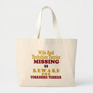 Yorkshire Terrier & Wife Missing Reward For Yorksh Bags
