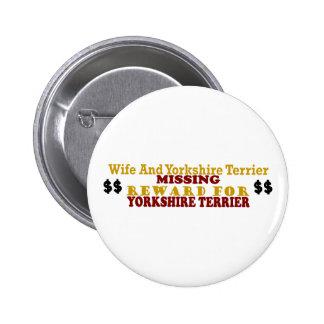 Yorkshire Terrier & Wife Missing Reward For Yorksh Pins