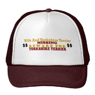Yorkshire Terrier & Wife Missing Reward For Yorksh Hat