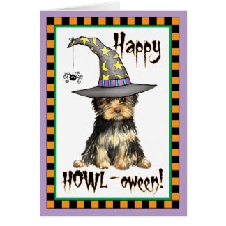 Yorkshire Terrier Witch Card