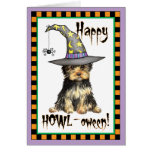 Yorkshire Terrier Witch Greeting Card