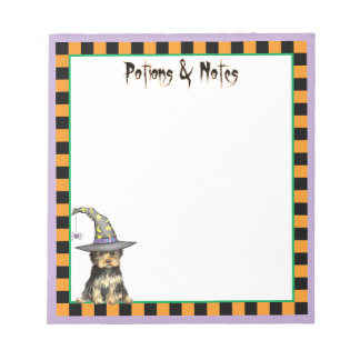 Yorkshire Terrier Witch Notepad