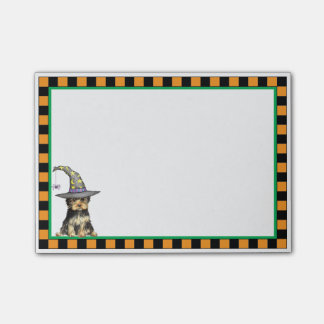 Yorkshire Terrier Witch Post-it Notes