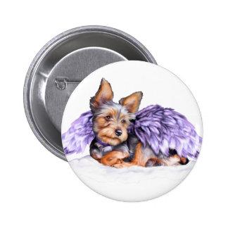 Yorkshire Terrier Yorkie Angel 2 Inch Round Button