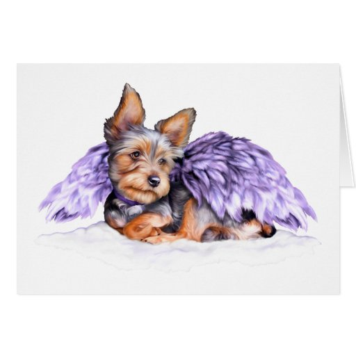 Yorkshire Terrier Yorkie Angel Greeting Card